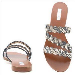 Snakeskin Braided Sandals
